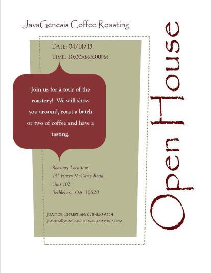 JavaGenesis Open House