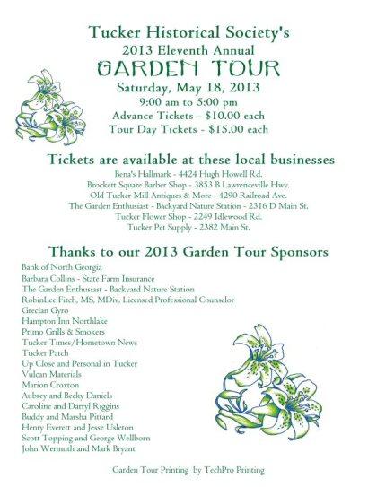 2013 Garden Tour flyersm