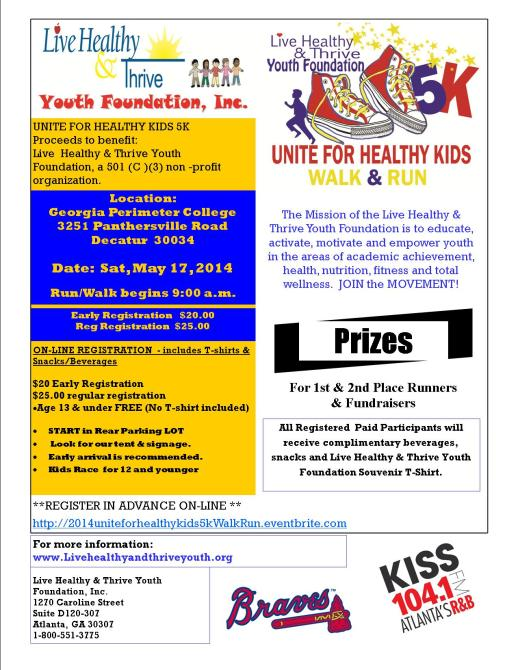 LHTYF 5K Walk 2014 Flyer