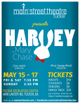 Main St. Theater presents Harvey. Tickets available at the TFM this Thursday!