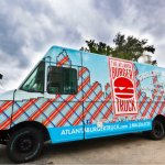 Atlanta Burger Truck is serving grilled all natural burgers & homemade sides. All-natural, hormone-free, and antibiotic-free Angus beef, and their burgers are fully customizable, with toppings including ancho-lime mayo, balsamic pear compote, and pecan smoked bacon!